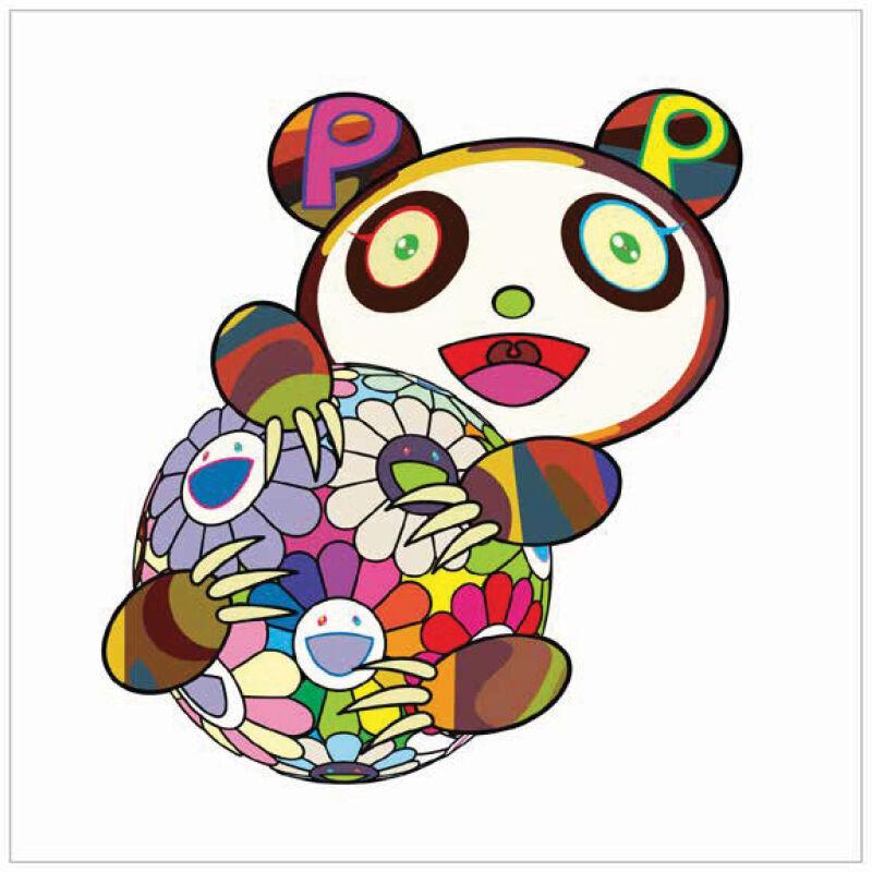 Takashi Murakami, 'A Panda Cub Hugging a Ball of Flowers', 2020, Print, Silkscreen on Paper, Marcel Katz Art