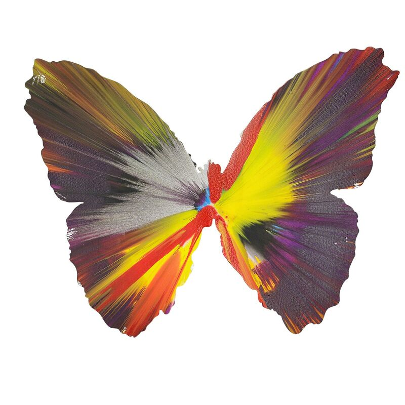 Damien Hirst, 'Butterfly Spin Painting (Created at Damien Hirst Spin Workshop)', 2009, Drawing, Collage or other Work on Paper, Acrylic on paper, Rago/Wright