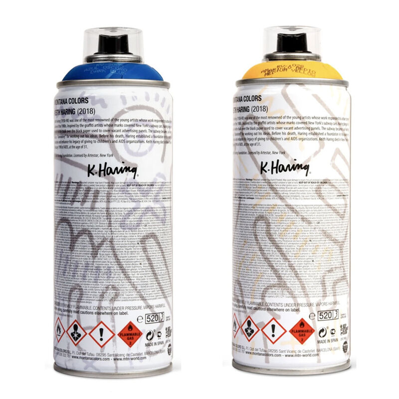 Keith Haring, ' Limited edition Keith Haring spray paint can set ', 2018, Ephemera or Merchandise, Offset lithograph on metal spray paint can, Lot 180
