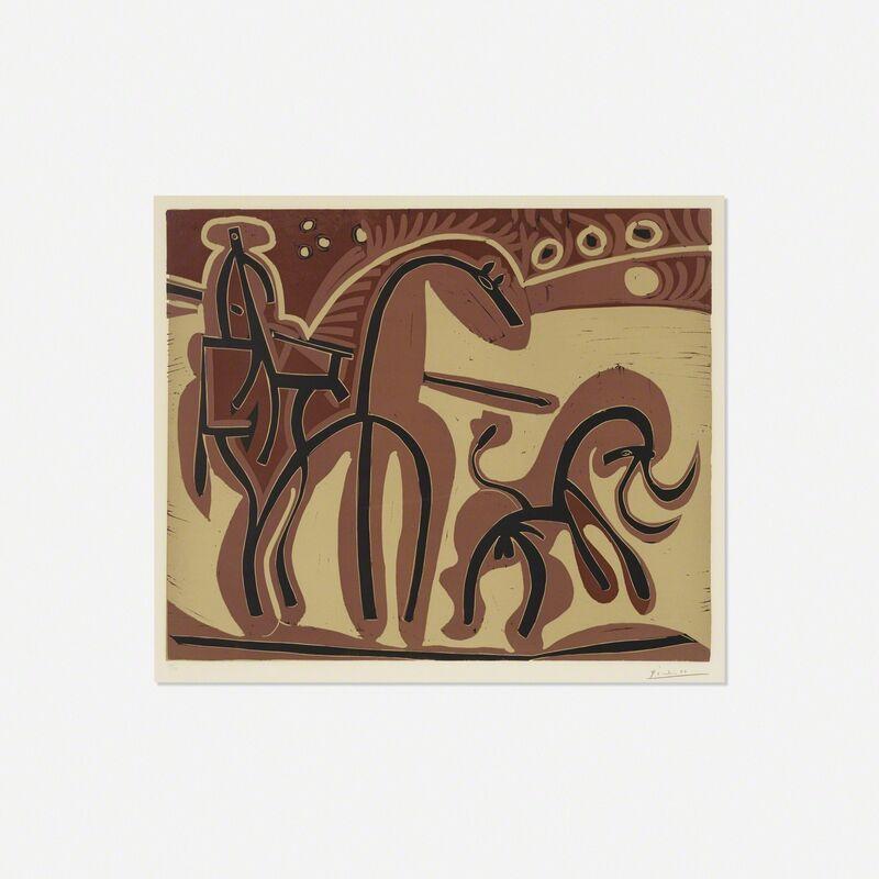Pablo Picasso, 'Picador et Taureau', 1959, Print, Linocut on Arches paper, Rago/Wright