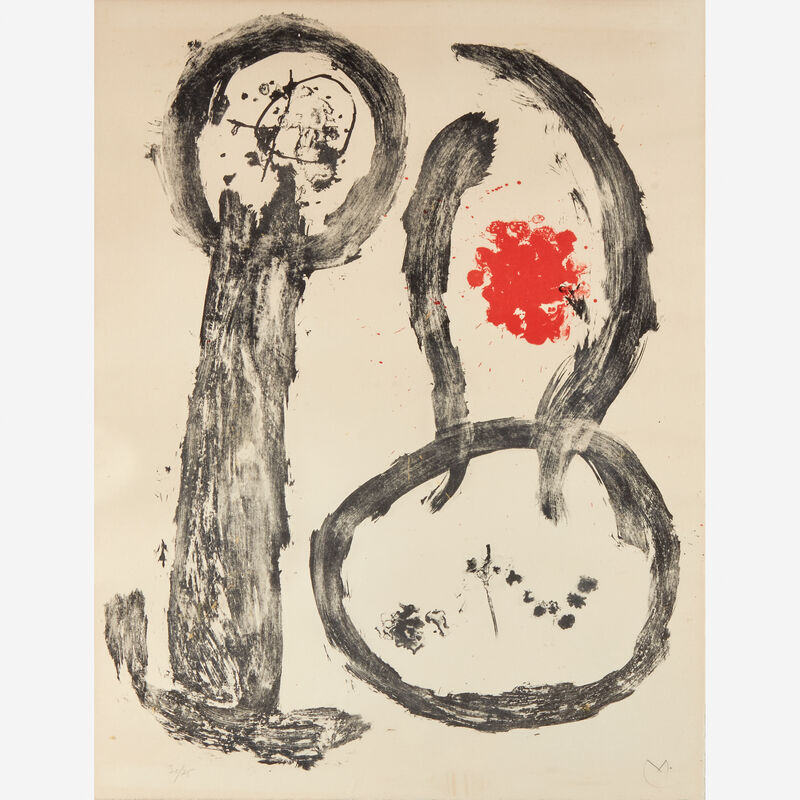 Joan Miró, 'Plate 2 from Album 19', 1961, Print, Color lithograph on wove paper., Freeman's
