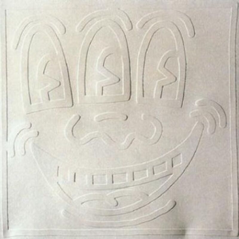 Keith Haring, 'White Icons - Three Eyed Man', 1990, Print, Embossing on Arches Cover paper, DANE FINE ART