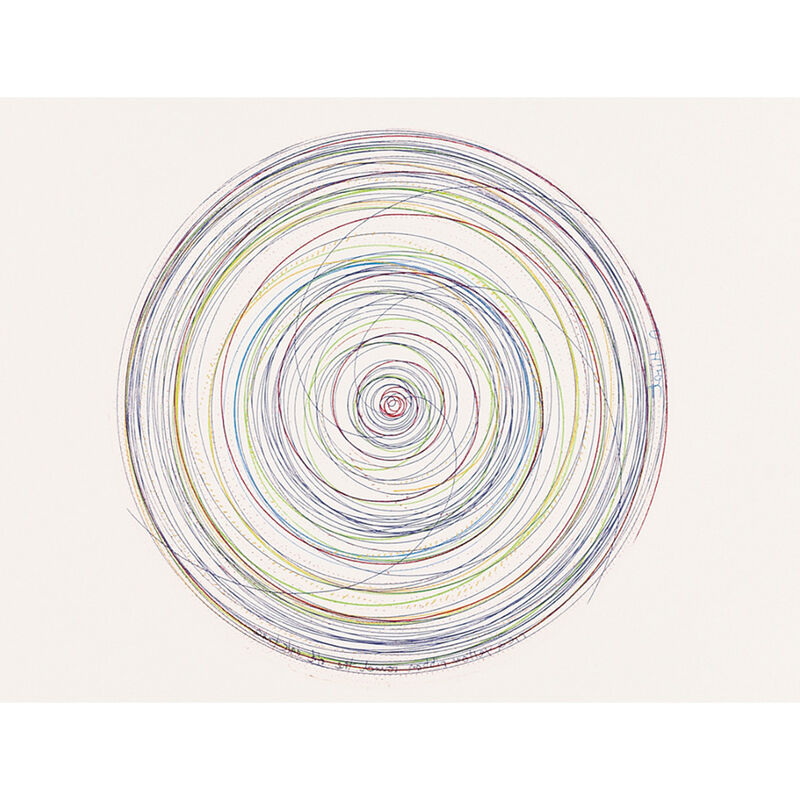 Damien Hirst, 'Tie a yellow Ribbon round the old Oak Tree (from In a Spin, the Action of the World on Things, Volume I)', 2002, Print, Etching in color, Weng Contemporary