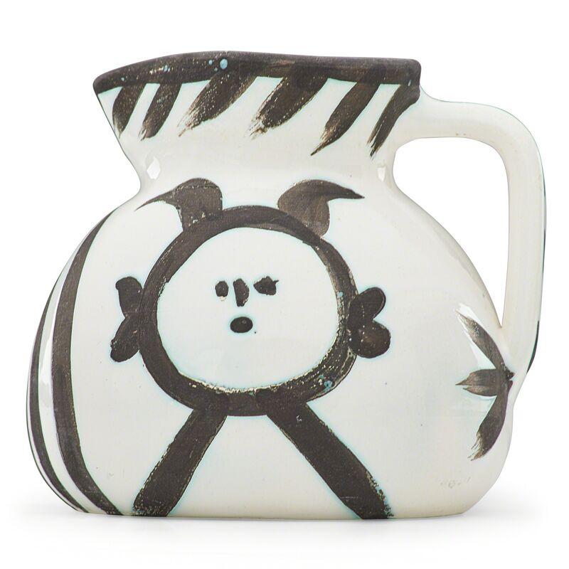 "Pablo Picasso, 'Pitcher, ""Head (Tête),"" France', des. 1953, Design/Decorative Art, Glazed earthenware with oxidized paraffin decoration, Rago/Wright/LAMA"