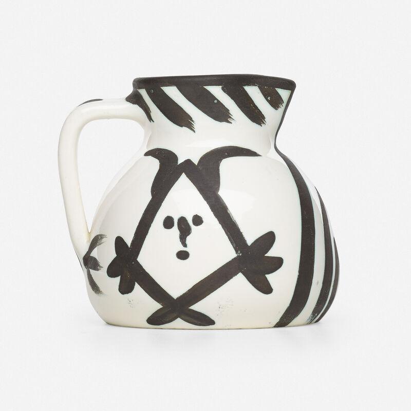 Pablo Picasso, 'Tête pitcher', 1953, Textile Arts, Glazed earthenware with oxidized paraffin decoration, Rago/Wright