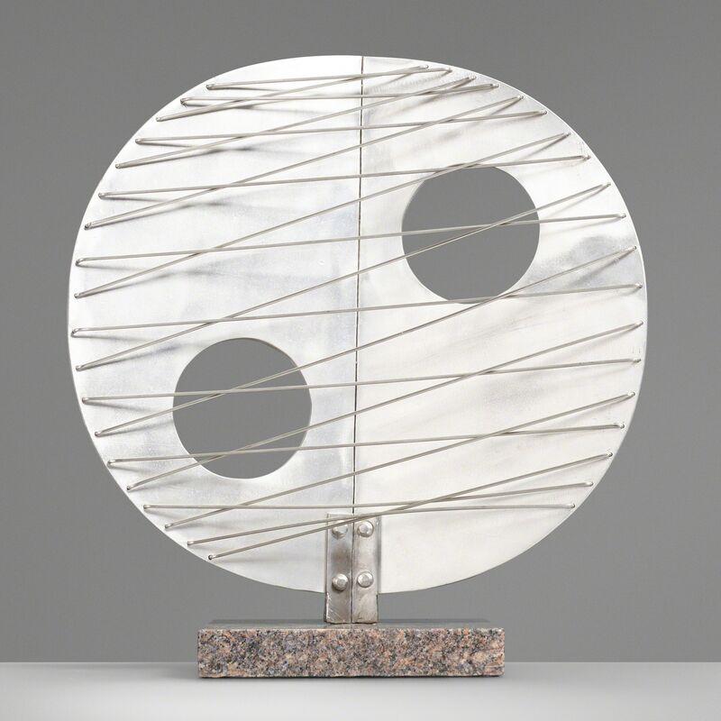 Style of Barbara Hepworth, 'Untitled', c. 1970, Sculpture, Aluminum, granite, steel, Rago/Wright