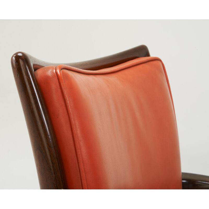 Vladimir Kagan, 'Two Swivel Armchairs, New York', 1950s, Design/Decorative Art, Sculpted Walnut, Leather, Rago/Wright