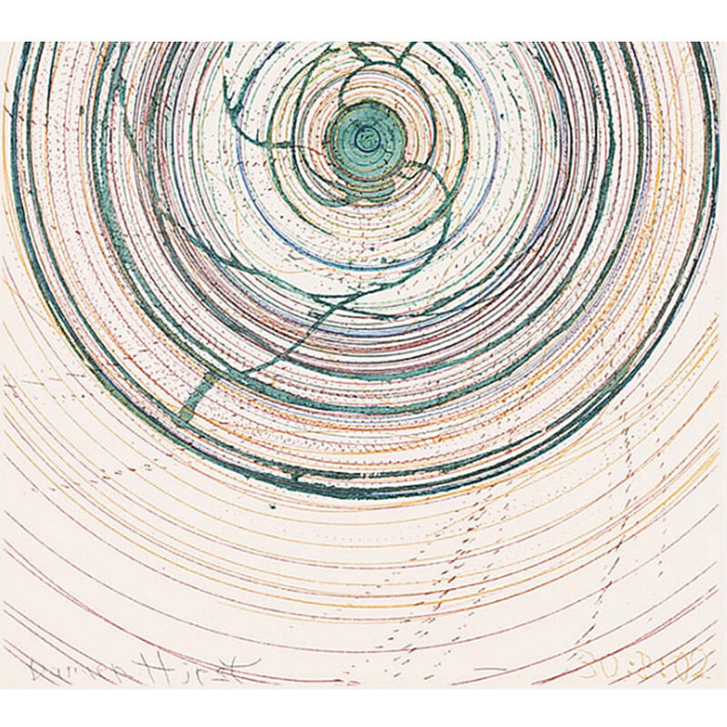 Damien Hirst, 'Spin me right round (from In a Spin, the Action of the World on Things, Volume I)', 2002, Print, Etching in color, Weng Contemporary