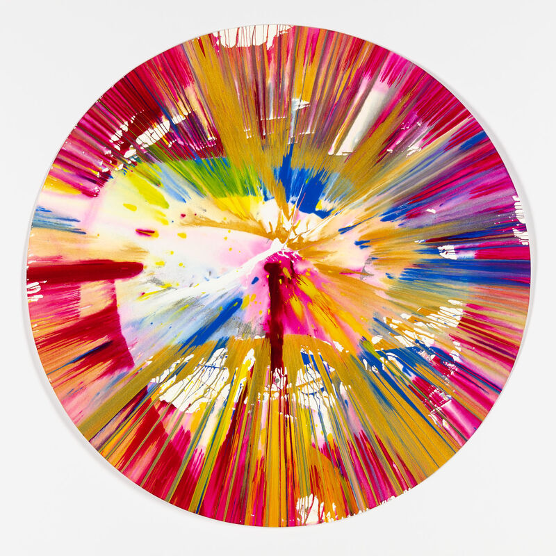 Damien Hirst, 'Spin Painting - Circle', 2009, Painting, Acrylic on paper, Christopher-Clark Fine Art