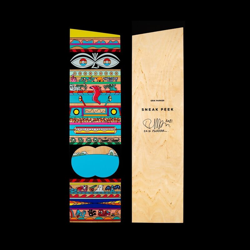 Erik Parker, 'PANEL SET B', 2021, Print, Silkscreen in colors on wood panel, Artsy x Tate Ward