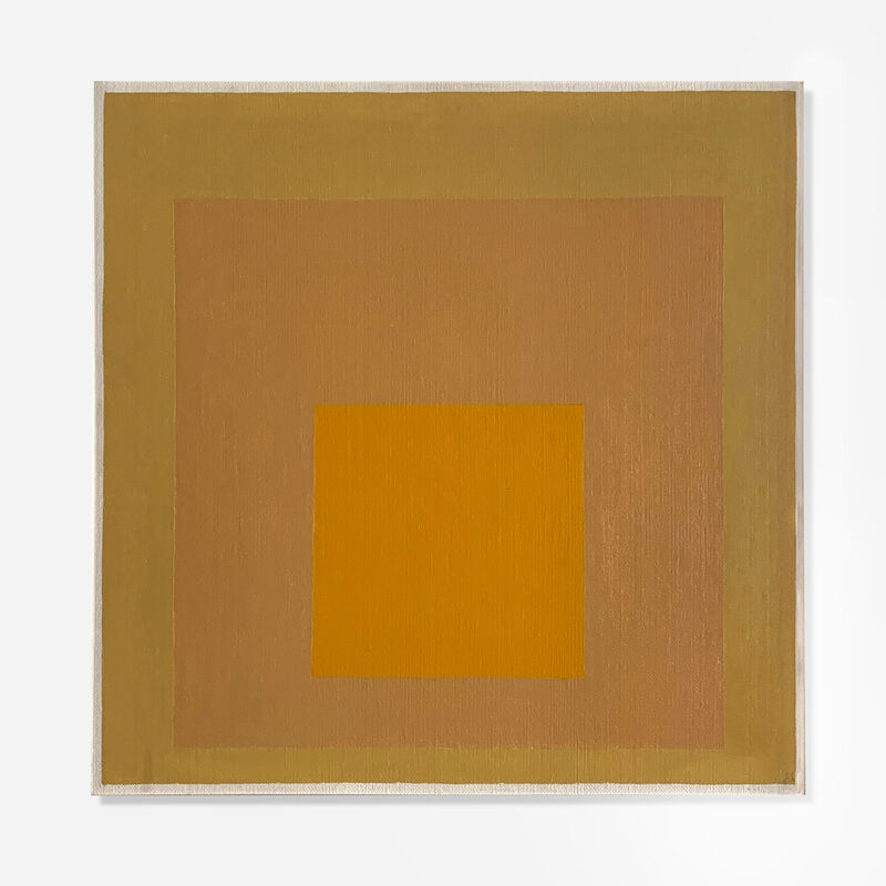 Josef Albers, 'Study for Homage to the Square: Deep Warmth', 1961, Painting, Oil on masonite, Artsy x Rago/Wright