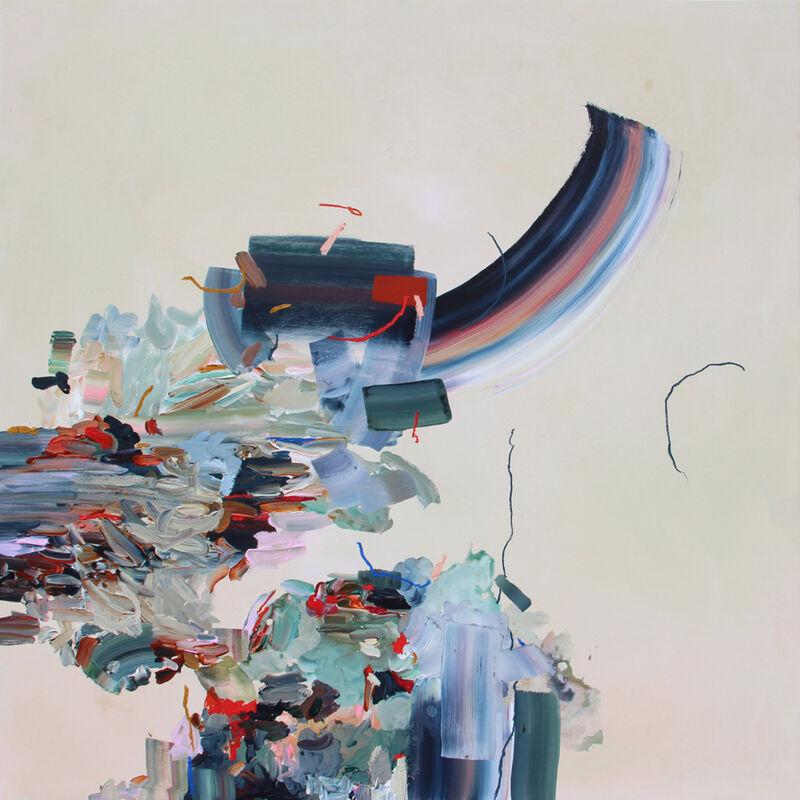 Janna Watson, 'Slam Dunk', 2019, Painting, Mixed media on panel, Foster/White Gallery
