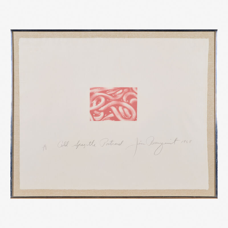 James Rosenquist, 'Cold Spaghetti Postcard', 1968, Print, Lithograph in colors on British Chatham (framed), Rago/Wright