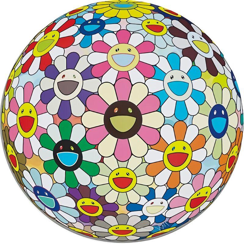 Takashi Murakami, 'Flower Ball (3D) Cosmos', 2011, Print, Offset print, Pinto Gallery