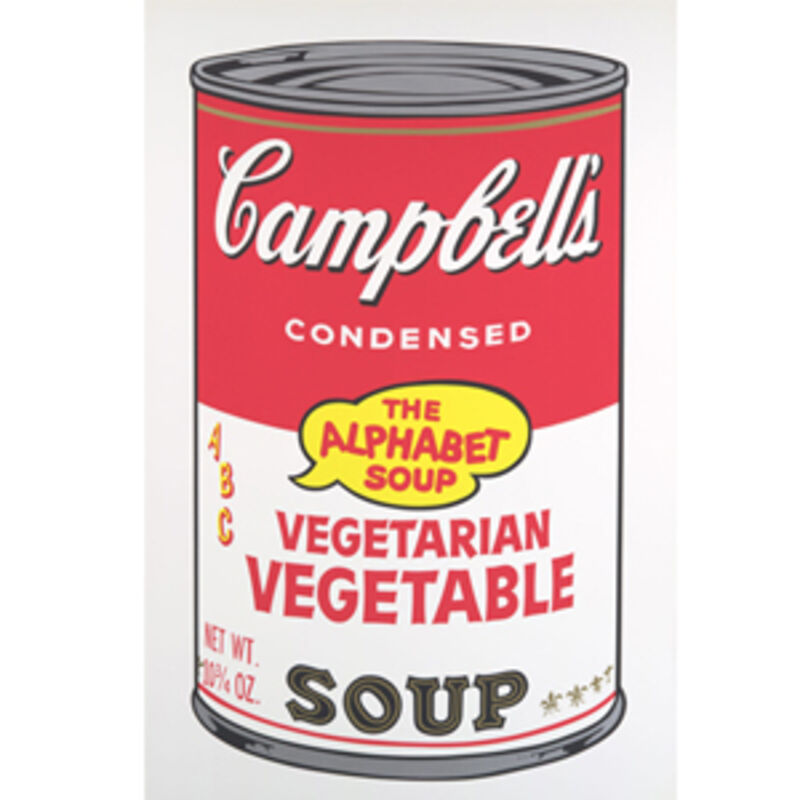 Andy Warhol, 'Vegetarian Vegetable, from Campbell's Soup II (F. & S. II. 56)', 1968, Print, Screenprint in colors on wove paper, David Benrimon Fine Art