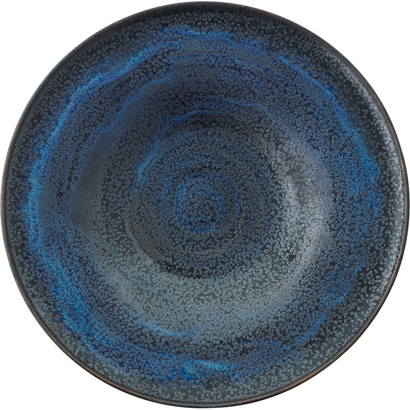 Gertrud Natzler, 'Fine flaring low bowl, Midnight Sky Deep Blue Crystalline glaze, Los Angeles, CA', 1963, Design/Decorative Art, Glazed earthenware, Rago/Wright/LAMA