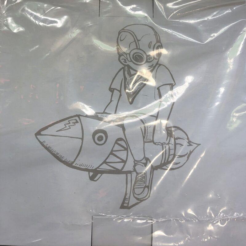 Hebru Brantley, 'Hebru Brantley Beyond the Beyond Flyboy (Hebru Brantley grey volt) ', 2018, Sculpture, Painted cast vinyl, Lot 180