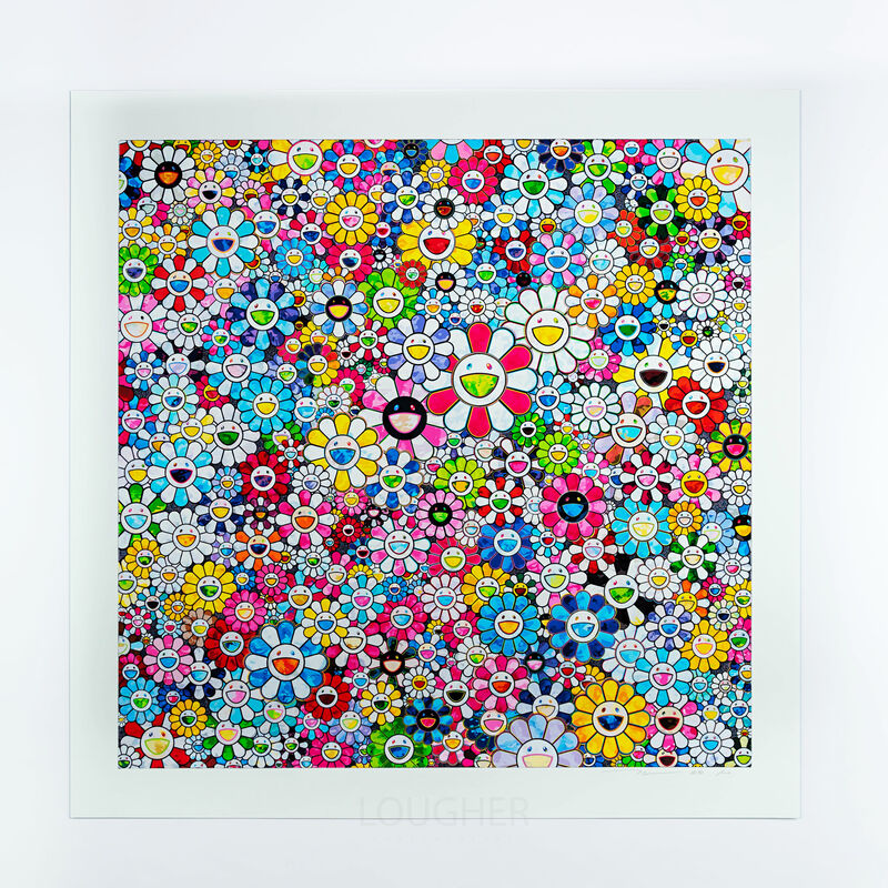 Takashi Murakami, 'Flowers with Smiley Faces', 2020, Print, Archival pigment print, Lougher Contemporary