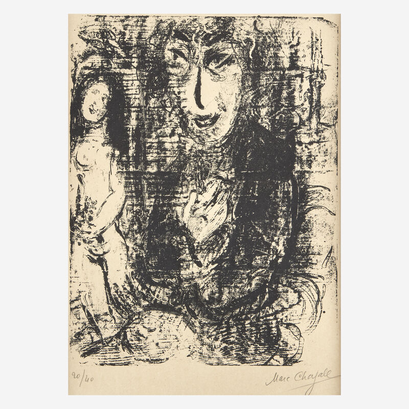 Marc Chagall, 'Painter and Model', 1963, Print, Lithograph on Arches, Freeman's