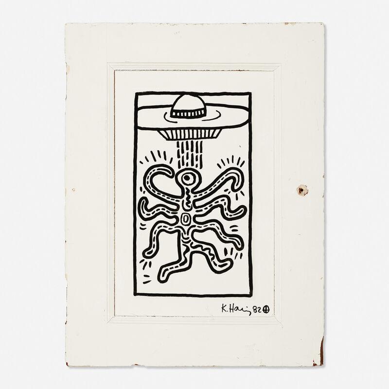 Keith Haring, 'Untitled (door)', 1982, Other, Acrylic on wood door, Rago/Wright