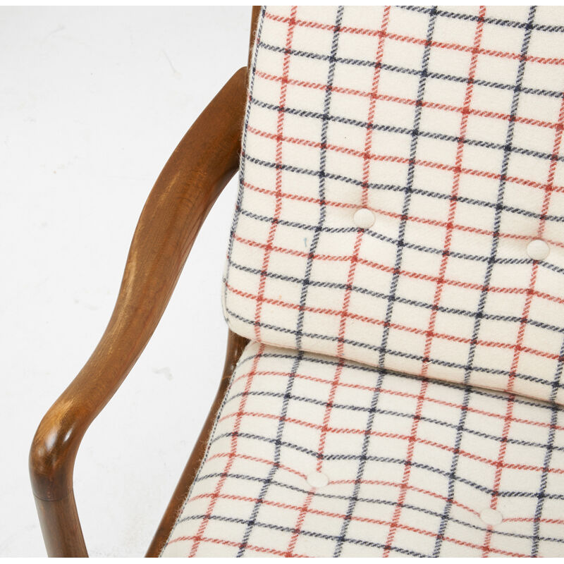 Ole Wanscher, 'Pair Of Lounge Chairs And Ottoman, model FD/124', 1950s, Design/Decorative Art, Stained Beech, Upholstery, Rago/Wright