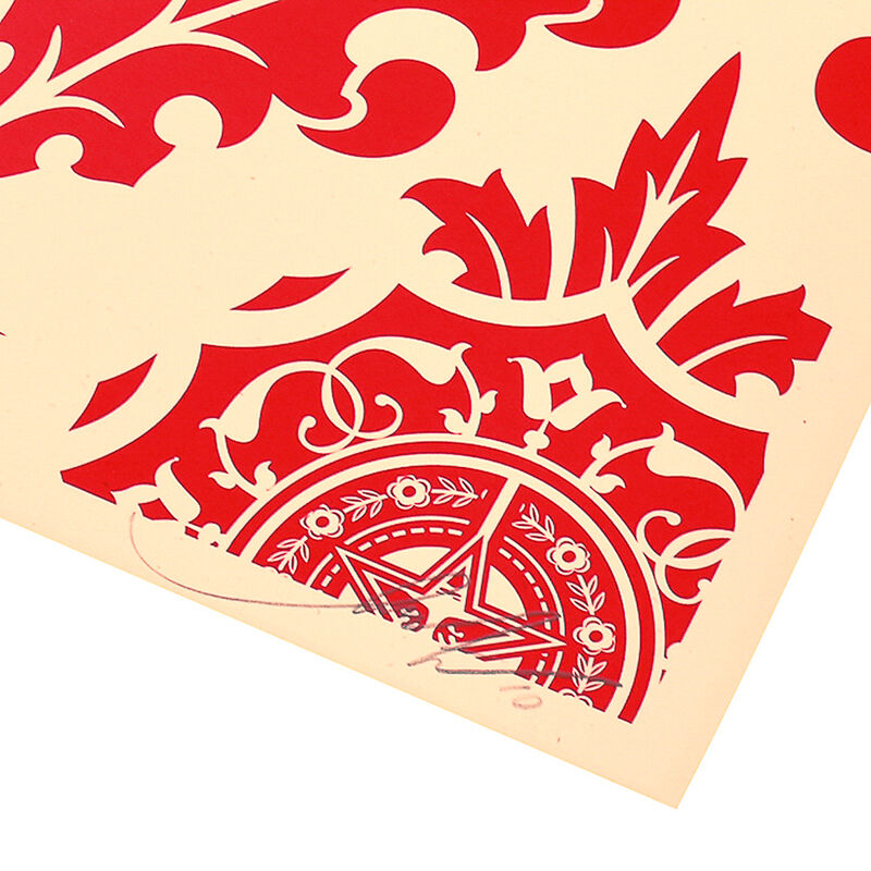 Shepard Fairey, 'PARLOR PRINT (Artist Proof Red & Cream)', 2010, Print, Silkscreen with red paint on heavy cream colored paper, Silverback Gallery
