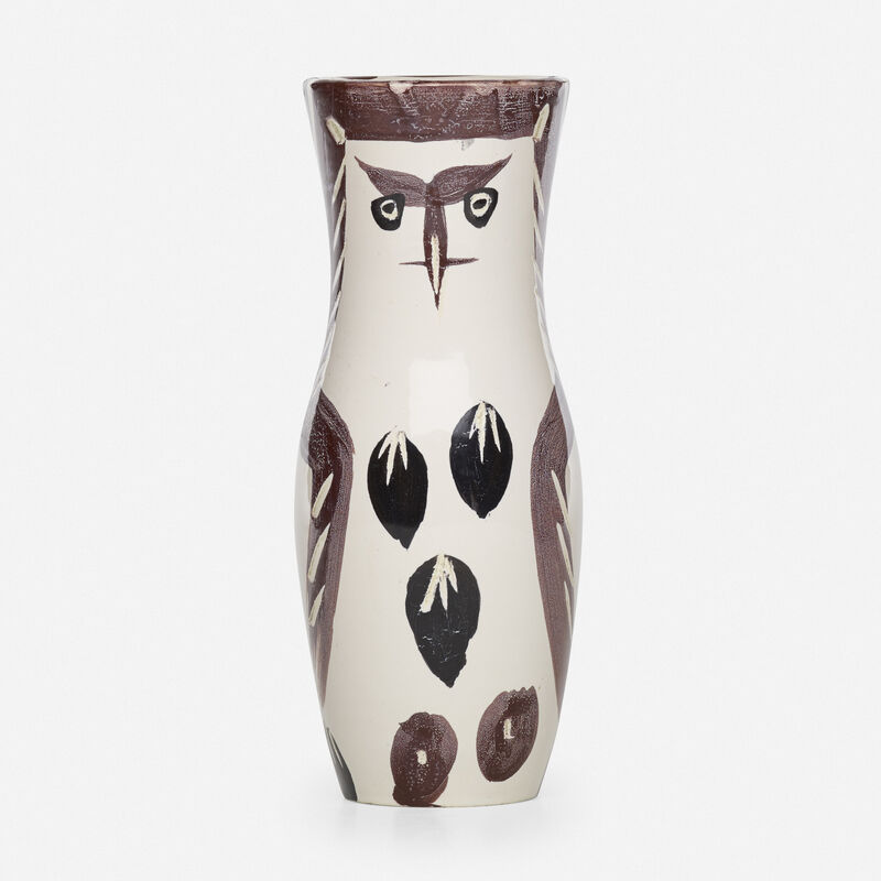 Pablo Picasso, 'Chouetton vase', 1952, Textile Arts, Glazed and incised earthenware decorated in oxides, Rago/Wright