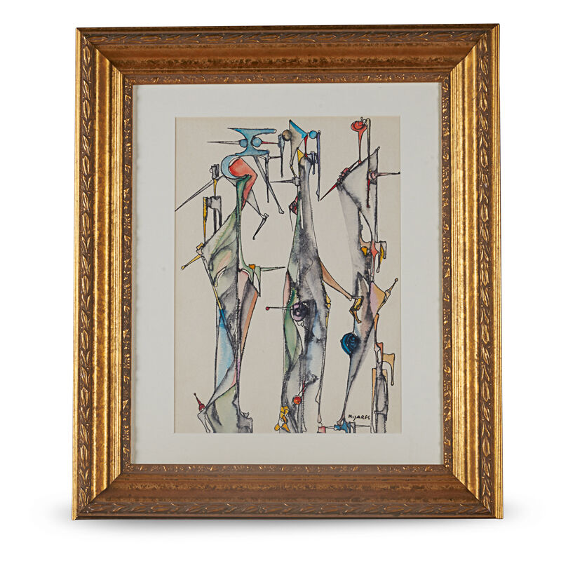 Jose Mijares, 'Untitled Painting, Cuba', 1950s, Painting, Watercolor On Paper, Rago/Wright
