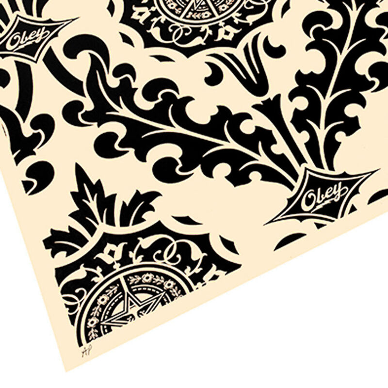 Shepard Fairey, 'PARLOR PRINT (Artist Proof Black & Cream)', 2010, Print, Screenprint with black paint on heavy cream colored paper, Silverback Gallery