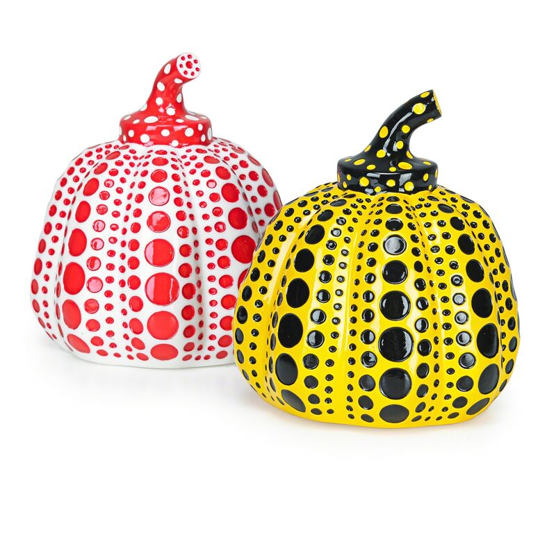 Yayoi Kusama, 'Pumpkin (Red & Yellow)', 2013, Mixed Media, Two painted cast resin multiples, Rago/Wright
