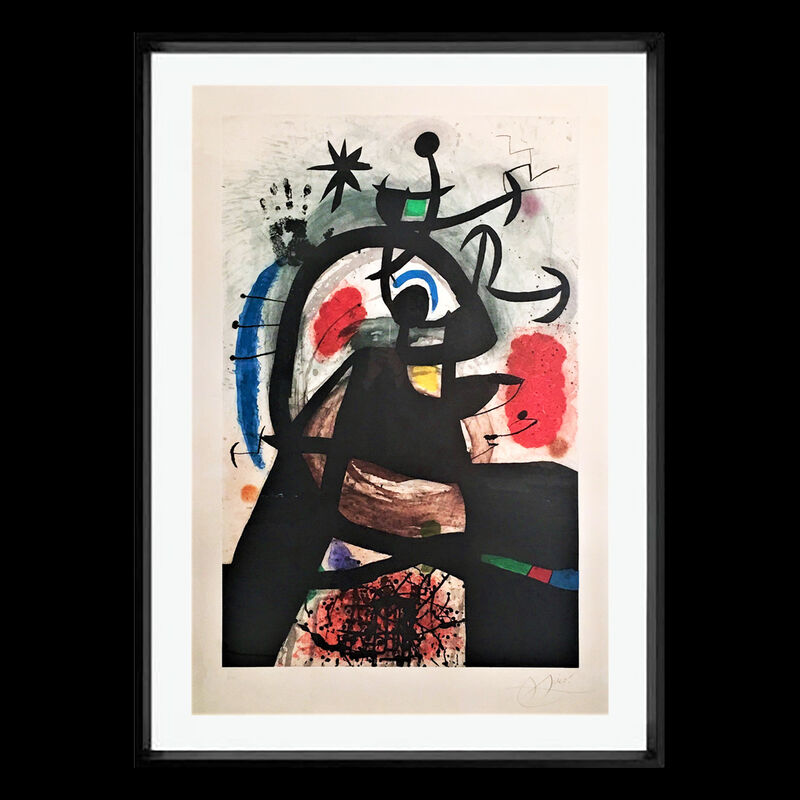Joan Miró, 'Le Permissionnaire', 1974, Print, Etching and aquatint on Arches Paper, Robin Rile Fine Art