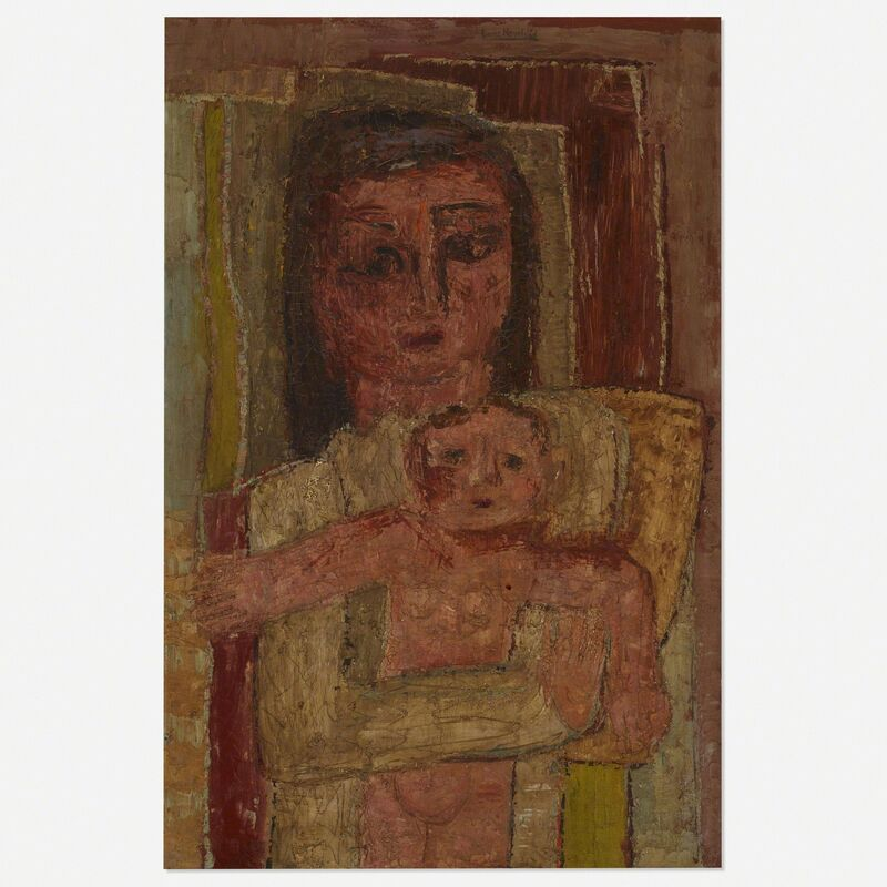 Louise Nevelson, 'Untitled', c. 1945, Painting, Oil on canvas, Rago/Wright