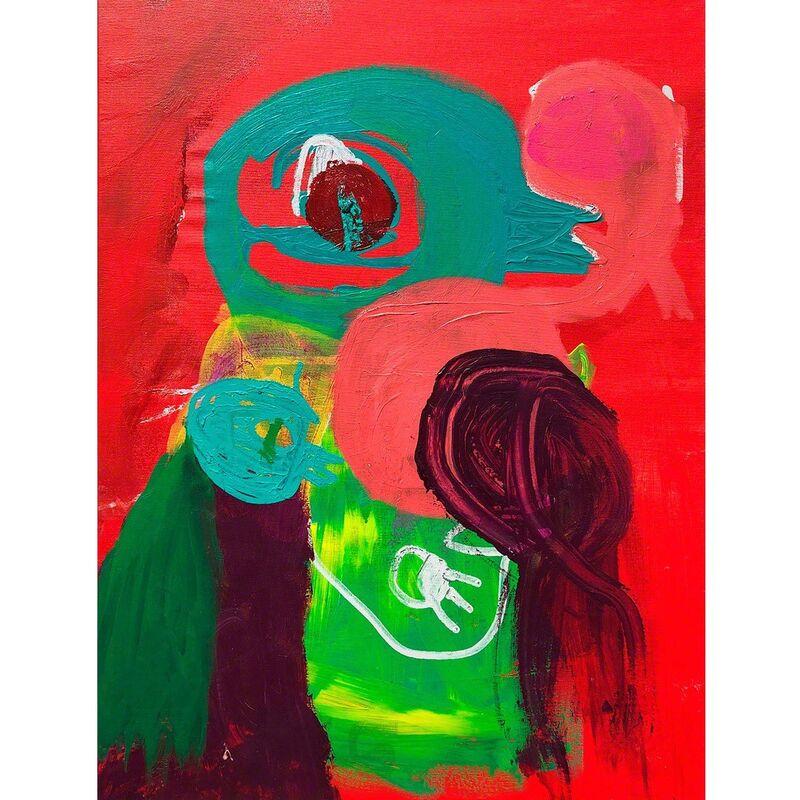 Carlos Dias, 'Bird Family II', 2018, Painting, Mixed media on canvas (framed), Olivia Connelly