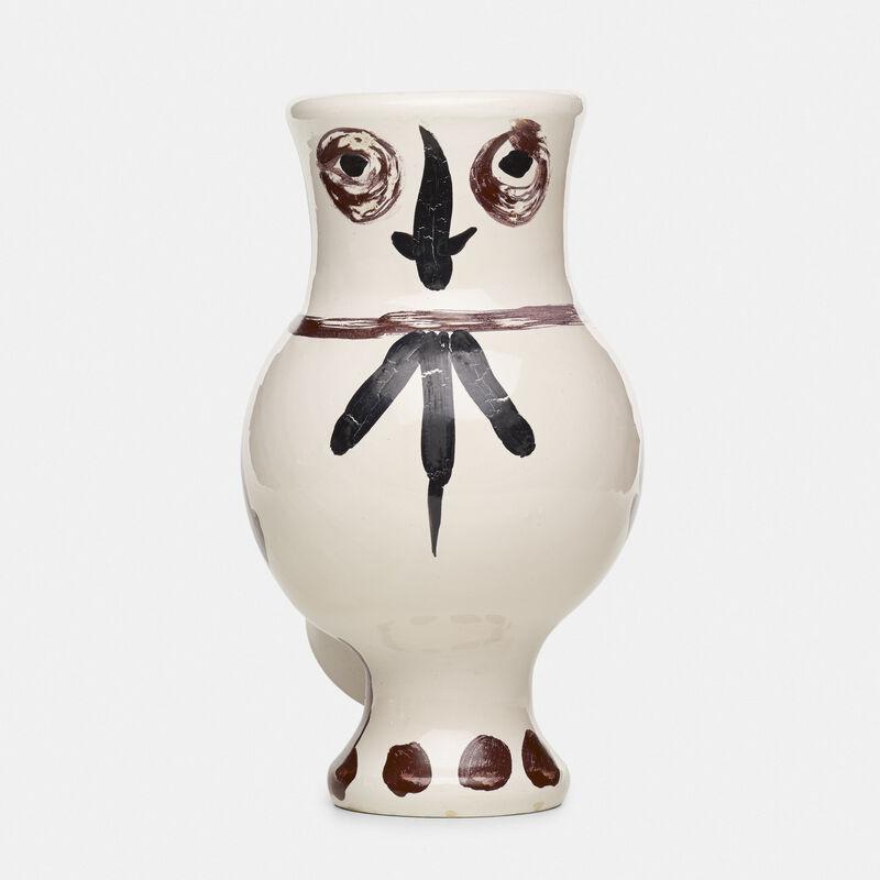 Pablo Picasso, 'Chouette aux Taches vase', 1951, Textile Arts, Glazed earthenware with engobe decoration, Rago/Wright