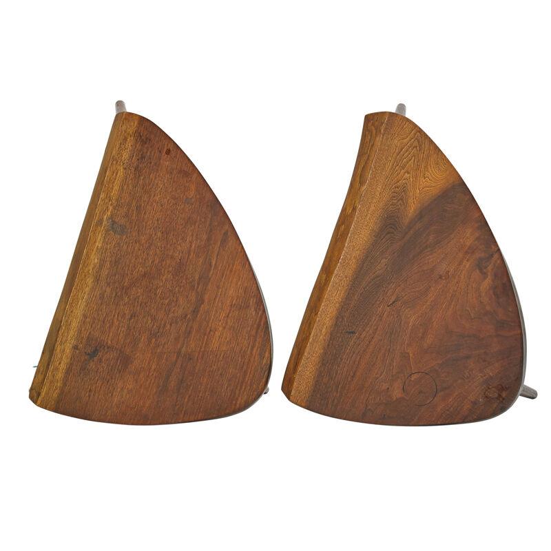 George Nakashima, 'Pair Of Wepman Side Tables, New Hope, PA', 1959, Design/Decorative Art, Walnut, Rago/Wright/LAMA