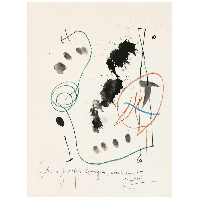 Joan Miró, 'Quelques Fleurs #11: Féquet', 1964, Print, Lithograph, Caviar20 Gallery Auction