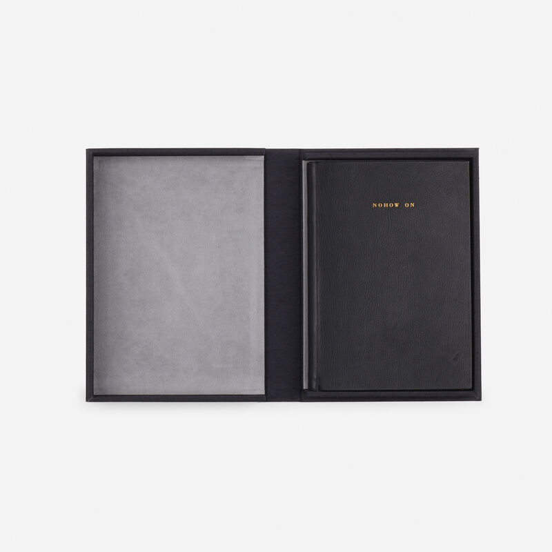 Robert Ryman, 'Nohow On, with text by Samuel Beckett', 1989, Books and Portfolios, Leather bound book with six aquatints on Arches, Rago/Wright