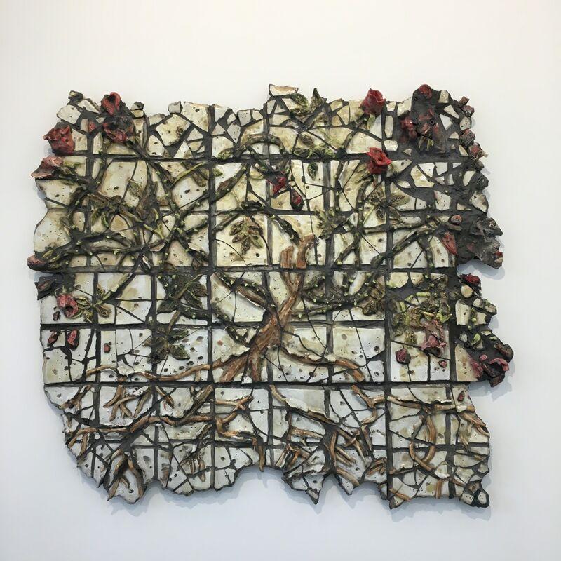 Valerie Hegarty, 'Broken Rosebush', 2018, Sculpture, Glazed ceramic, Wedi board, grout, epoxy, Malin Gallery