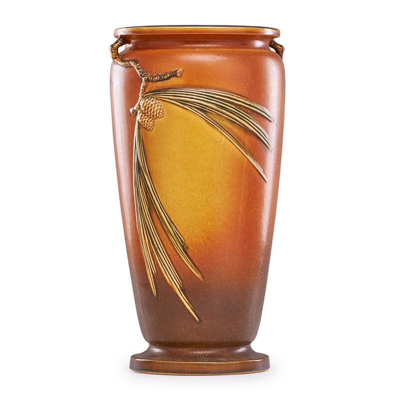 Roseville Pottery, 'Brown Pine Cone Umbrella Stand, Zanesville, OH', 1935, Design/Decorative Art, Rago/Wright/LAMA