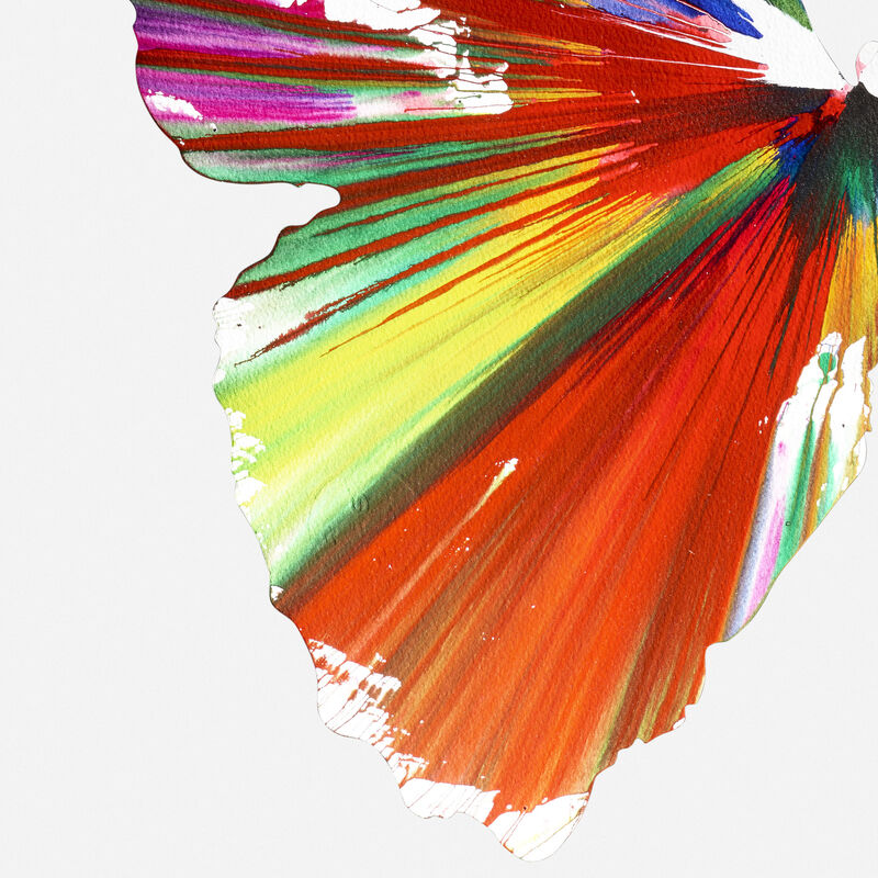 Damien Hirst, 'Butterfly Spin Painting', 2009, Painting, Acrylic on paper, Rago/Wright