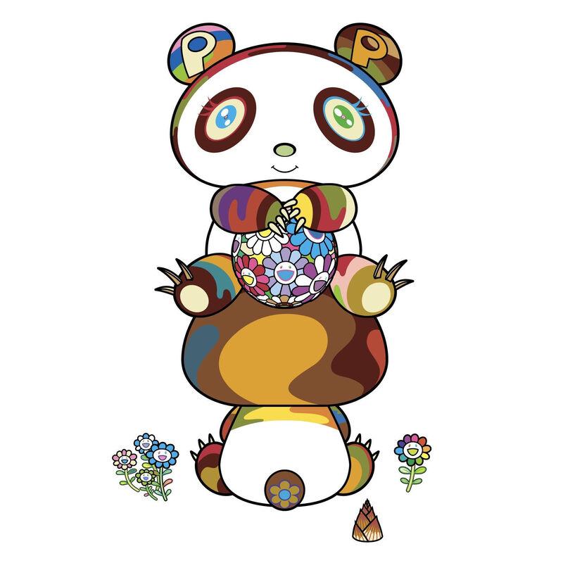 Takashi Murakami, 'Sitting pandas here and there', 2020, Print, Silkscreen, Pinto Gallery
