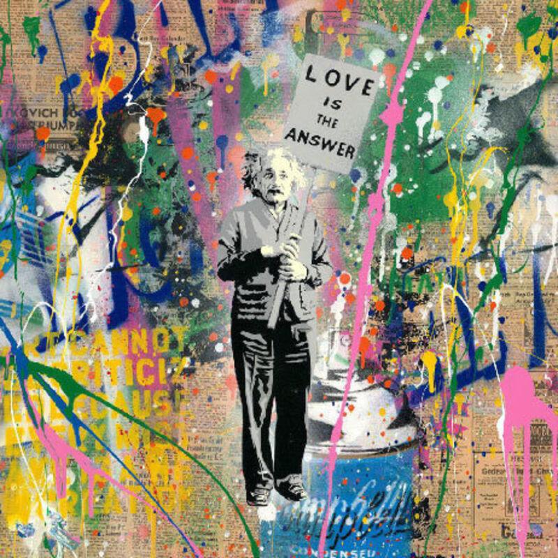 Mr. Brainwash, 'Einstein', ca. 2020, Mixed Media, Silkscreen and mixed media on paper, New River Fine Art