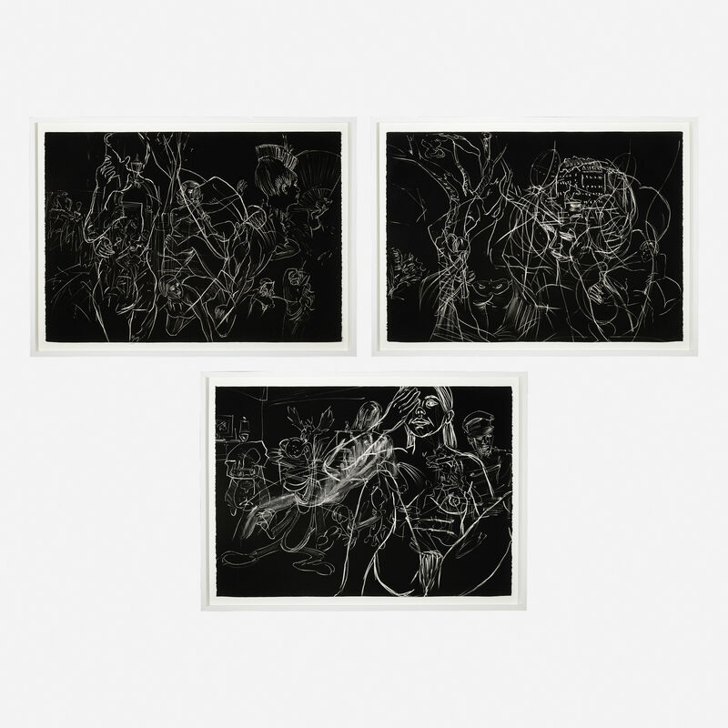 David Salle, 'Until Photographs Could be Taken from Earth Satellites (three works)', 1981, Print, Aquatints, Rago/Wright/LAMA