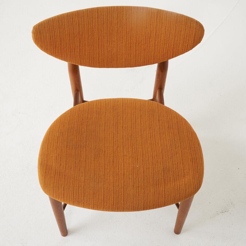 Finn Juhl, 'Dining Table And Six Chairs, Denmark', 1950s, Design/Decorative Art, Teak, Upholstery, Rago/Wright