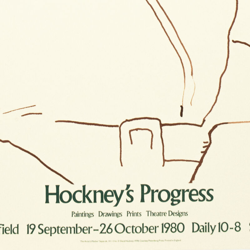 David Hockney, 'Graves Art Gallery 1980 (The Artist's Mother 1978) ', 1980, Posters, Offset lithograph on paper, Petersburg Press