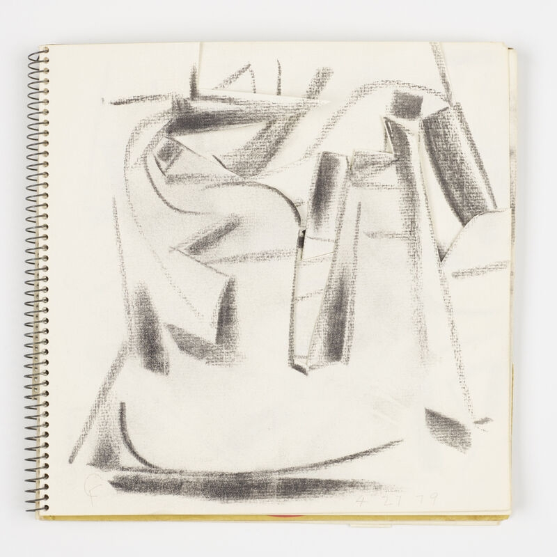 Claire Falkenstein, 'Untitled (sketchbook)', Mixed Media, Charcoal and mixed media in spiral bound sketchbook, Rago/Wright/LAMA