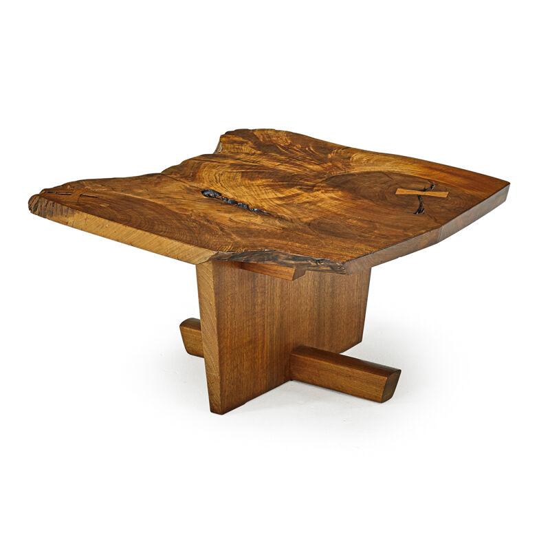 George Nakashima, 'Fine Side Table, New Hope, PA', 1975, Design/Decorative Art, Figured Walnut, Rosewood, Rago/Wright