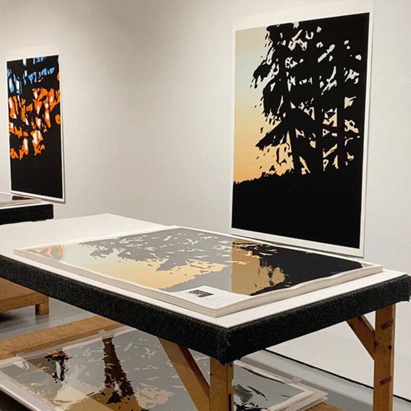 Alex Katz, 'Sunrise - Sunset | Landscape Portfolio', 2020, Print, Archival Pigment Ink on Innova Etching Cotton Rag 315gsm paper, Frank Fluegel Gallery