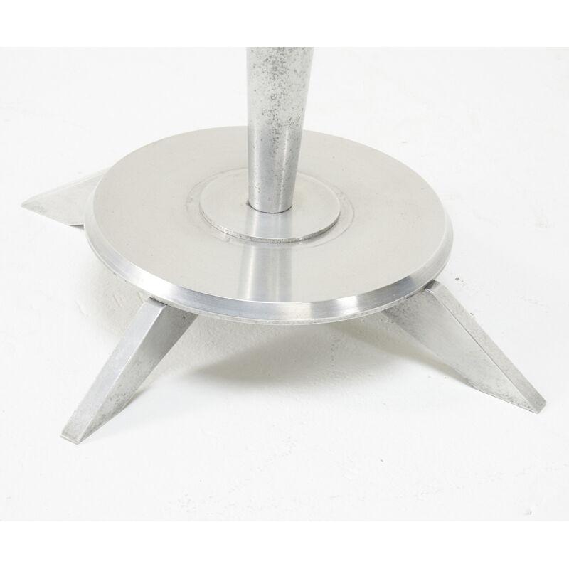 American Industrial, 'Side Table', Mid-20th C., Design/Decorative Art, Aluminum, Glass, Rubber, Rago/Wright/LAMA