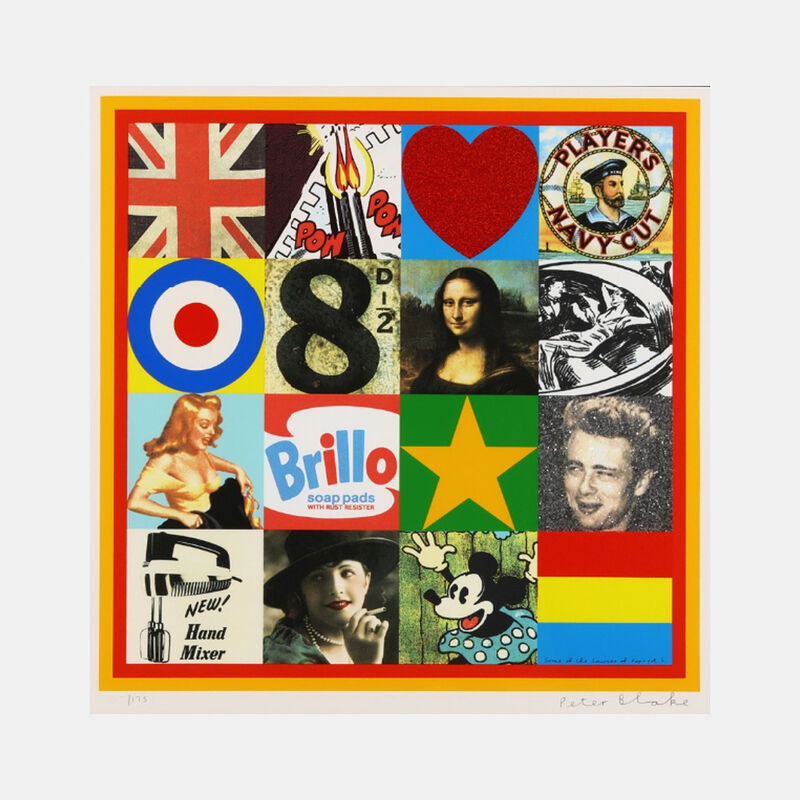 Peter Blake, 'Some of the Sources of Pop Art V', 2007, Print, Screenprint in colours with glitter and diamond dust, Lougher Contemporary